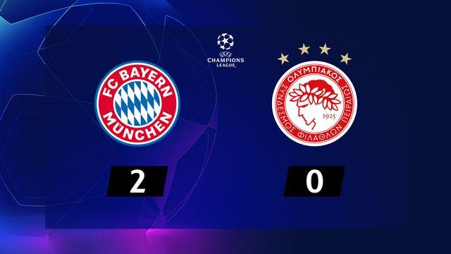 4ème journée, Bayern Munich - Olympiakos (2-0): résumé de la rencontre