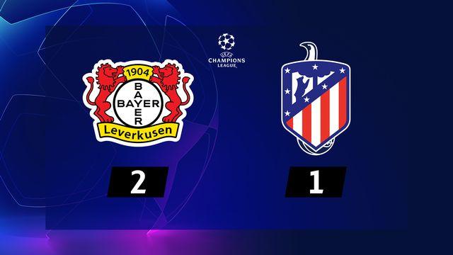 4ème journée, Bayer Leverkusen - Atlético Madrid (2-1): résumé de la rencontre