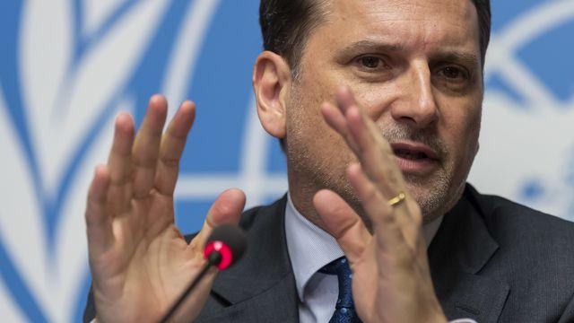 Pierre Krähenbühl quitte temporairement ses fonctions à l'UNRWA. Il est mis en cause dans une enquête pour abus de pouvoir. [Martial Trezzini - Keystone]
