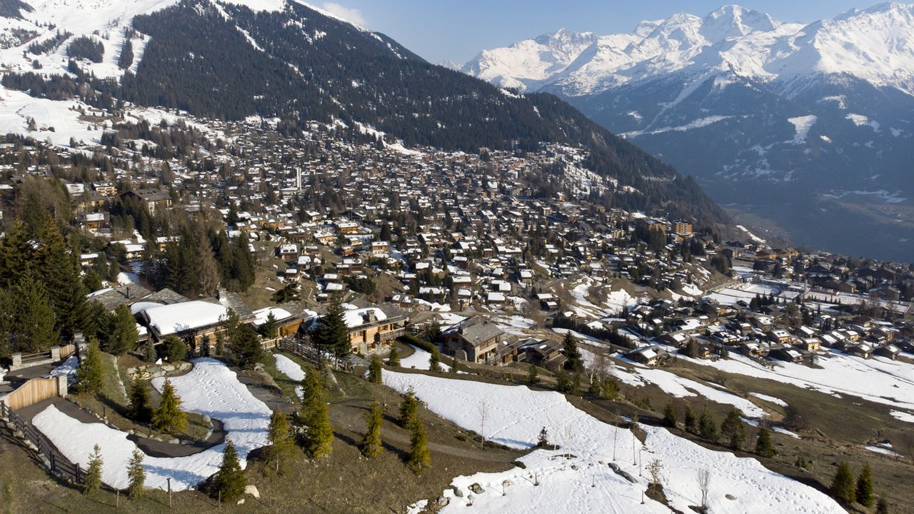 Une vue du village de Verbier, le 28 mars 2019. [Laurent Darbellay - Keystone]