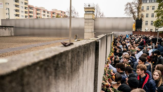 Commémorations des 30 ans de la chute du Mur de Berlin. [Michael Kappeler - Keystone/DPA]