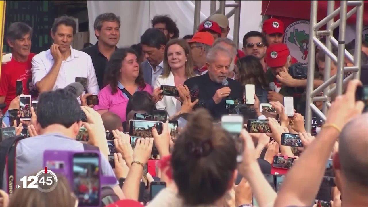 Lula, l'ex-président, libéré par la justice brésilienne entre acclamations et mépris [RTS]