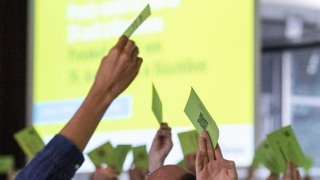 Les délégués Vert'libéraux étaient réunis samedi 9 novembre à Spiez. [Peter Schneider - Keystone]
