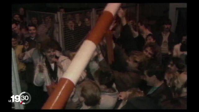 Chute du mur: Les déclarations et moments historiques de ce 9 novembre 1989 [RTS]