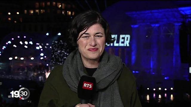 """Anne Mailliet était à Berlin en 1989 """"Les gens riaient, se prenaient dans les bras, il y avait une effervescence dans la ville"""" [RTS]"""