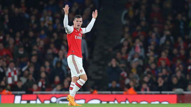 Granit Xhaka avait répondu de manière maladroite à certains supporters d'Arsenal. [Paul Terry - Freshfocus]