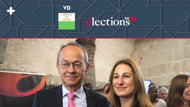 Olivier Français (PLR) et Adèle Thorens Goumaz (Les Verts) représenteront le canton de Vaud à Berne. [Laurent Gillieron - Keystone]