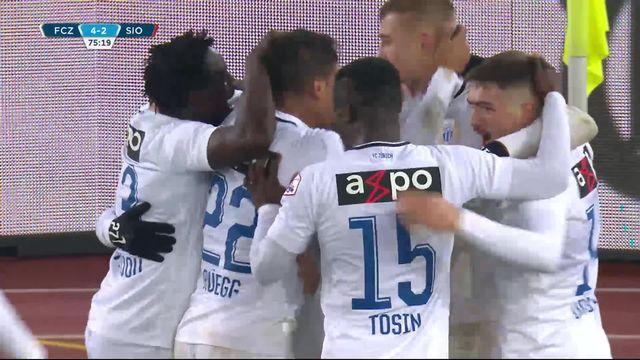 14e journée, Zurich - Sion (4-2): les buts du match [RTS]