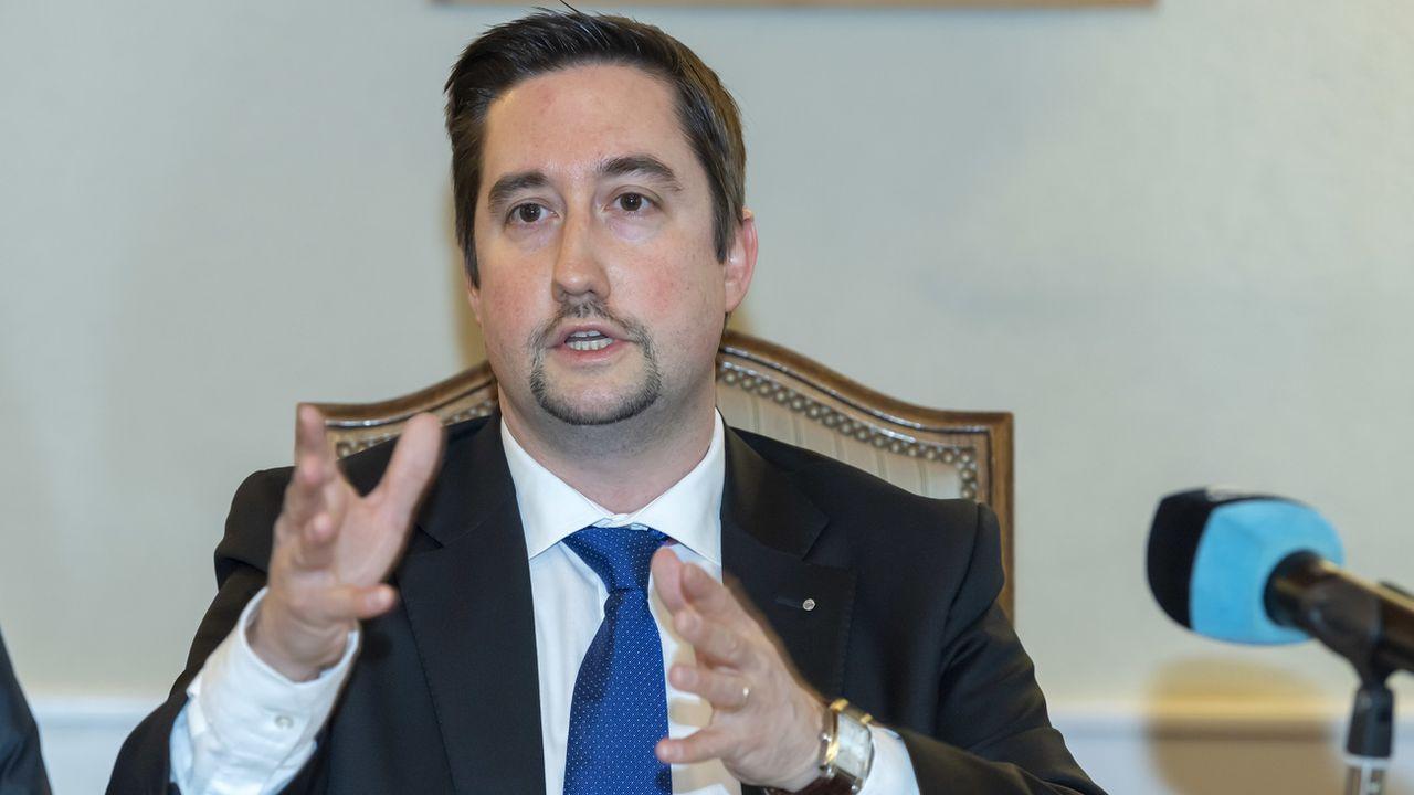 Yvan Zweifel, chef de groupe PLR au Grand Conseil genevois [Martial Trezzini - Keystone]