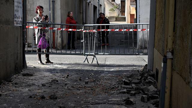 Plusieurs dégâts légers ont été enregistrés au Teil, bourg de 8500 habitants à l'ouest de Montélimar [Jeff Pachoud - afp]