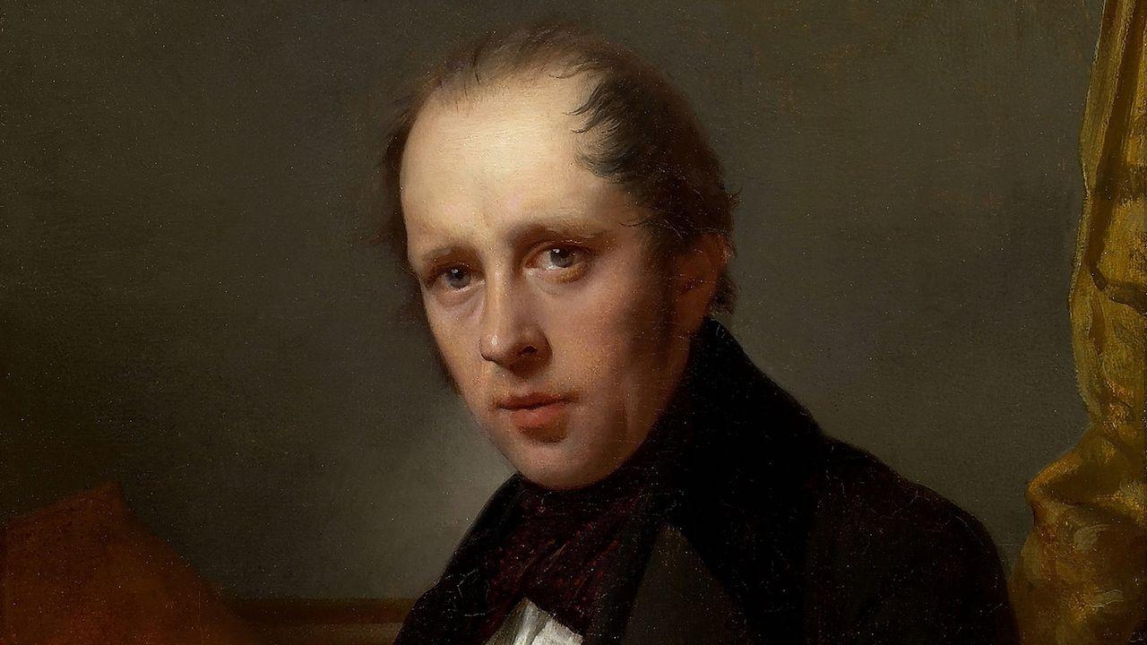Un portrait de Rodolphe Töpffer peint par Jean-Léonard Lugardon vers 1840. [Bibliothèque de Genève]