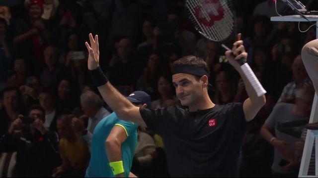 Round Robin: R.Federer (SUI) - M.Berrettini (ITA) (7-6, 6-3): Federer bat Berrettini pour son 2e match du Masters [RTS]
