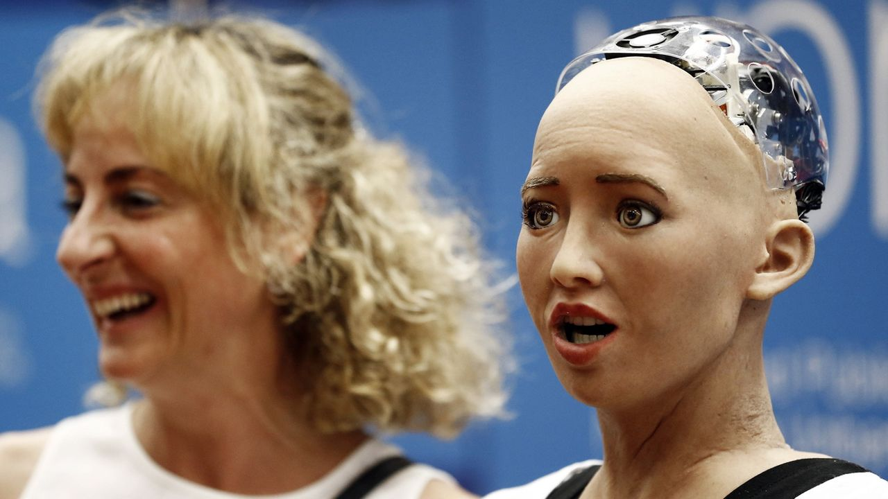 Le robot humanoïde Sophia [jesus Diges - EPA/Keystone]