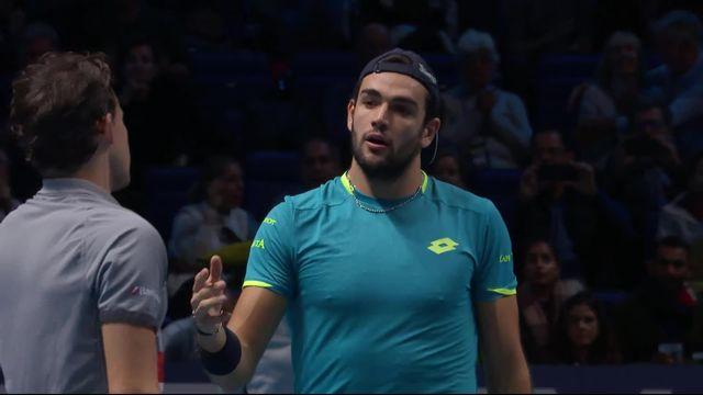 Round Robin: D.Thiem (AUT) - M.Berrettini (ITA) (6-7, 3-6): victoire de prestige pour Berrettini contre Dominic Thiem [RTS]