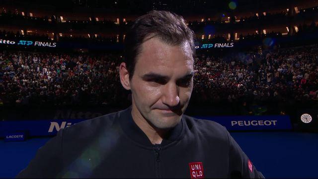 Round Robin: N.Djokovic (SRB) - R.Federer (SUI) (4-6, 3-6): la première réaction de Federer après sa qualification [RTS]