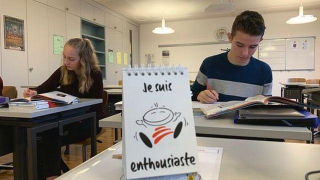 Dans le canton de Schwytz, un conseiller d'État a décidé de renforcer l'enseignement du français pour éviter que les compétences linguistiques des élèves ne chutent encore. [Arnaud Robert - RTS]