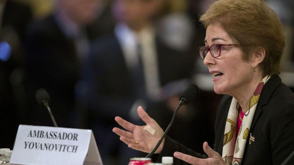 L'ex-ambassadrice américaine en Ukraine, Marie Yovanovitch, lors de son audition au Congrès, ce 15 novembre 2019. [Alex Brandon - AP Photo]