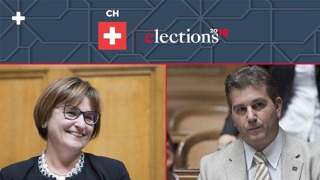 Grosse surprise au Tessin avec l'élection de la socialiste Marina Carobbio au Conseil des Etats aux côtés de l'UDC Marco Chiesa.  [Keystone]