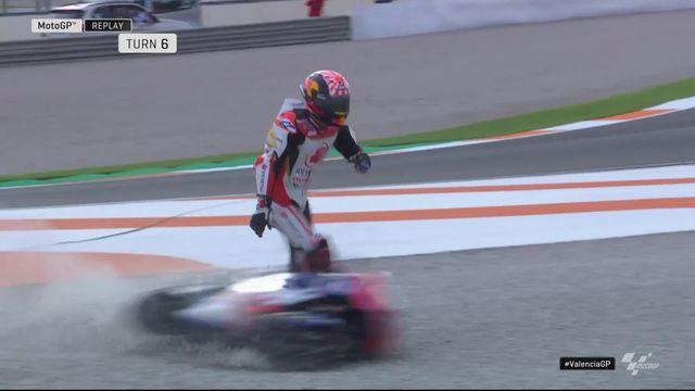 GP de Valence (#18), MotoGP: chute de Johann Zarco [RTS]
