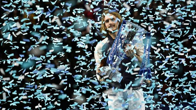 Tsitsipas est le plus jeune vainqueur de l'épreuve depuis Lleyton Hewitt en 2001. [Will Oliver - Keystone]