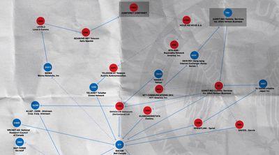 """""""Treasure Map"""" est une carte interactive et en temps réel du Web global."""