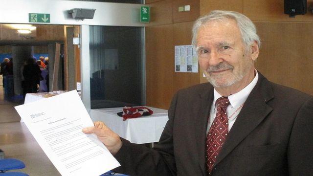 Roland Grunder, président du Conseil suisse des aînés. [Alain Meyer - SWI]