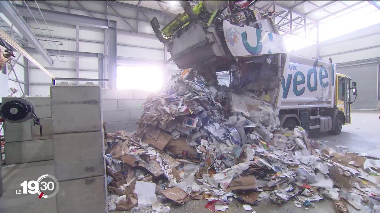 La fermeture des frontières chinoises fait chuter la valeur du carton recyclé en Suisse [RTS]
