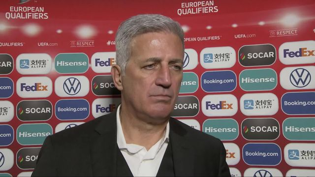Gr.D, Gibraltar - Suisse (1-6): Petkovic à l'interview [RTS]