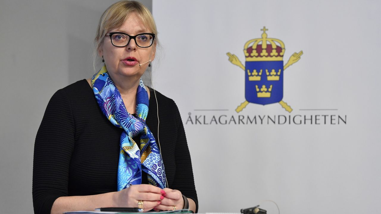 La procureure en chef adjointe Eva-Marie Persson a décidé de classer la procédure pour viol contre Julian Assange en Suède. [Jessica Gow - Keystone ]