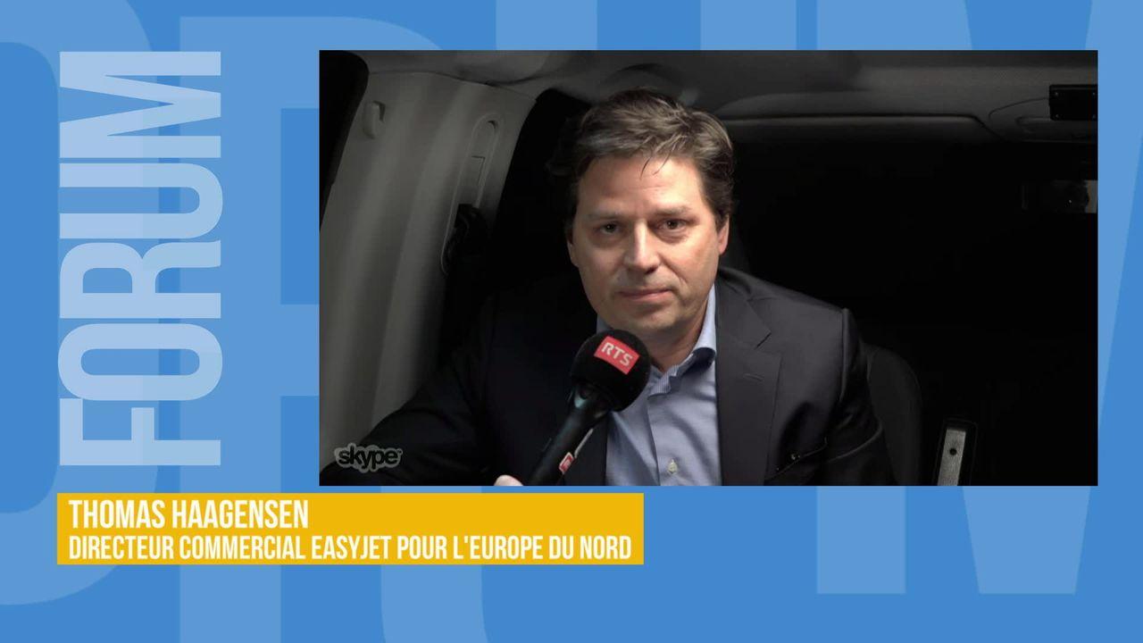 EasyJet promet la neutralité carbone: interview de Thomas Haagensen [RTS]
