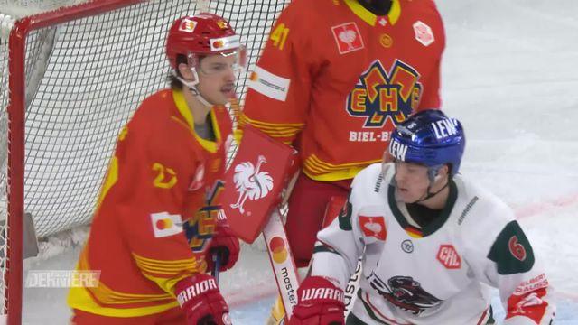 Hockey: Ligue des Champions, résumé de Bienne - Augsburg (2-1ap) [RTS]