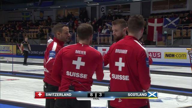 Helsinborg (SWE), Suisse - Ecosse messieurs (8-3): victoire des Suisses qui peuvent encore se qualifier pour les demies [RTS]