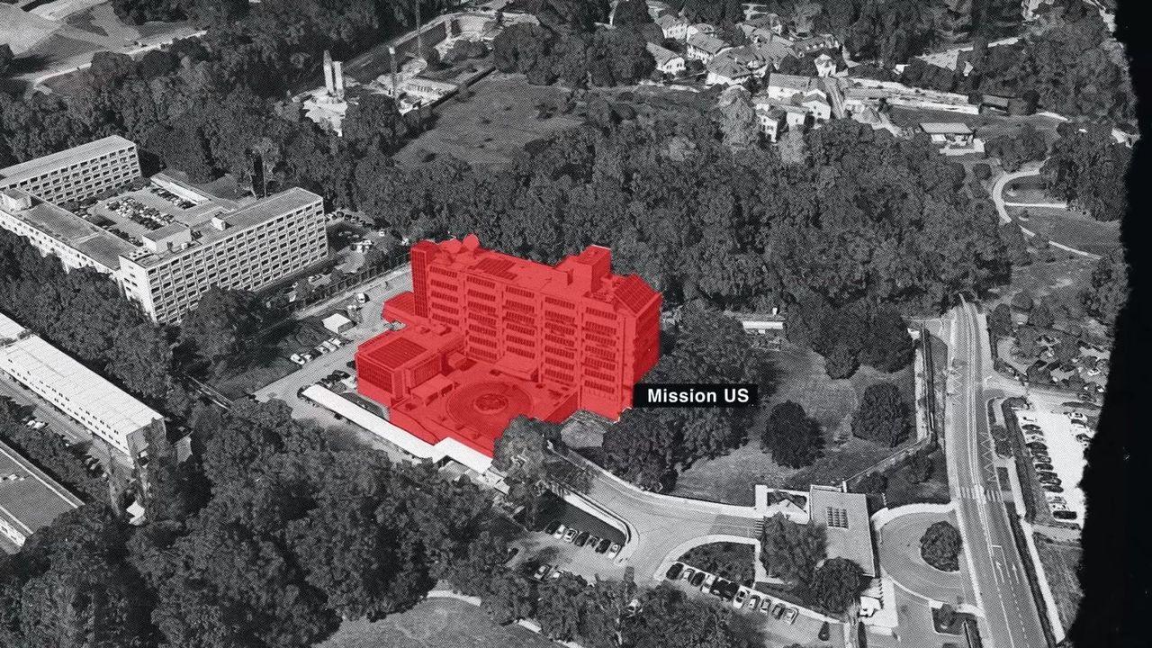 Les bâtiments visibles de la mission permanente des Etats-Unis auprès de l'ONU. [societe ecran media]