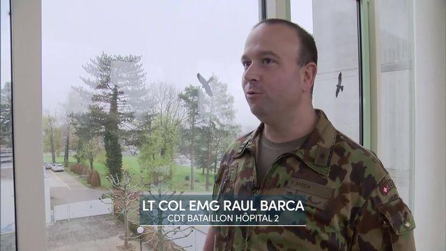 Entretien avec le Lieutenant-colonel EMG Raul Barca, Commandant bataillon hôpital 2 [RTS]