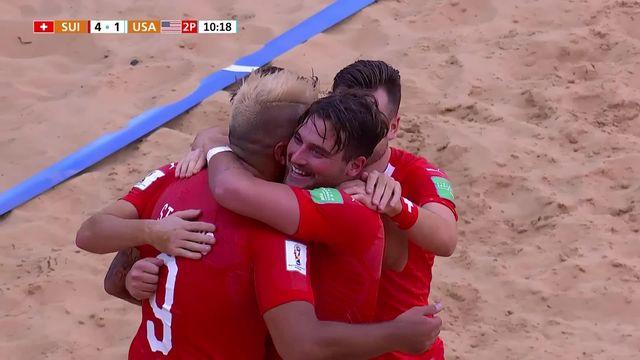 Beach Soccer: la Suisse bat les USA (8-6) [RTS]