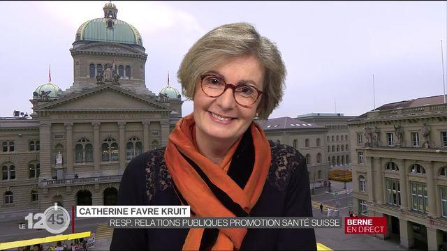 Explications de Catherine Favre Kruit, responsable relations publiques pour Promotion Santé Suisse [RTS]