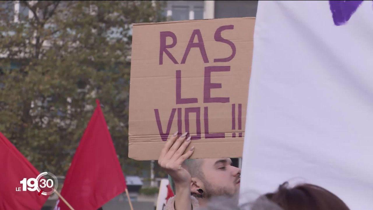 Les Lausannois ont manifesté dans la rue à l'occasion de la journée internationale contre les violences sexistes [RTS]