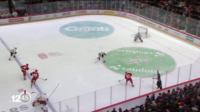 Hockey sur glace: troisième victoire en trois derbies lémaniques pour Genève Servette, devant un stade vide. [RTS]