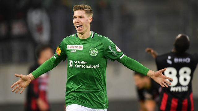 Itten a marqué son 8e but de la saison en Super League. [Gian Ehrenzeller - Keystone]