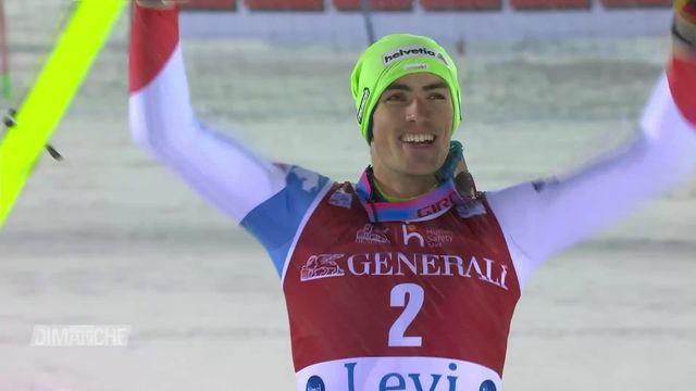 Ski alpin, Levi: Daniel Yule apporte un premier podium masculin à la Suisse [RTS]
