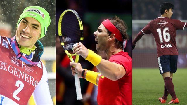 Le top-3 du week-end: Daniel Yule, Rafael Nadal et le Servettien Park [Salvatore Di Nolfi/KIMMO BRANDT/Manu Fernandez - Keystone]