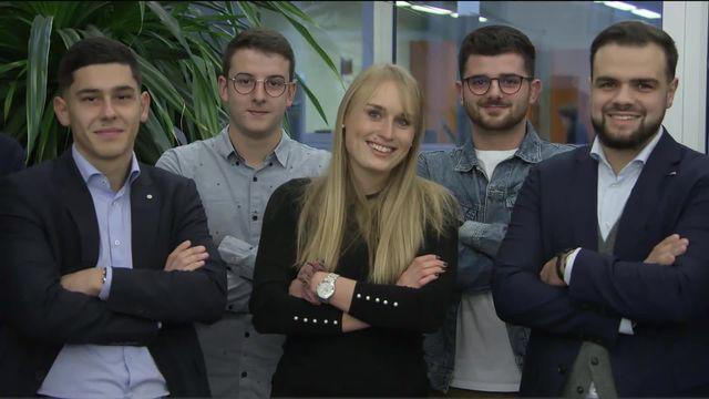 Grand concours boursier: la Haute Ecole de gestion de Fribourg est en tête! On est allé les trouver. [RTS]