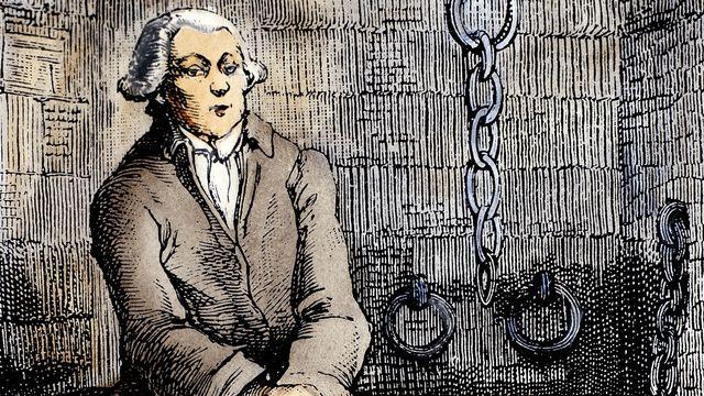 Donatien Alphonse Francois Marquis de Sade en prison, dessin non daté. [Getty Images]
