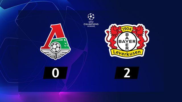 5e j. Gr.D, Lokomotiv Moscou - Leverkusen (0-2): résumé de la rencontre