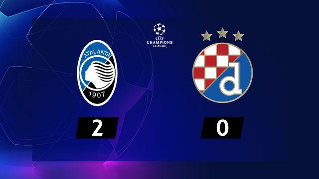 5e j. Gr.C, Atalanta - Dinamo (2-0): résumé de la rencontre
