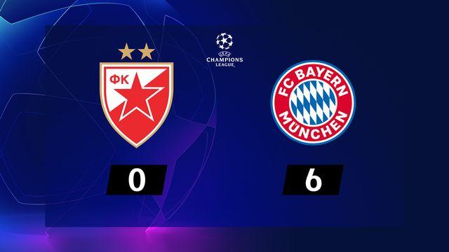 5e j. Gr.B, Etoile Rouge - Bayern (0-6): résumé de la rencontre