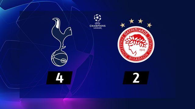 5e j. Gr.B,Tottenham - Olympiakos (4-2): résumé de la rencontre