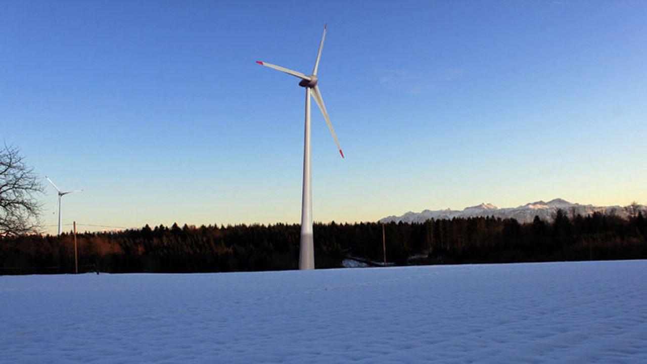 Le projet EolJorat Sud prévoit huit éoliennes de grande taille sur les hauts de Lausanne. [Si-Ren]