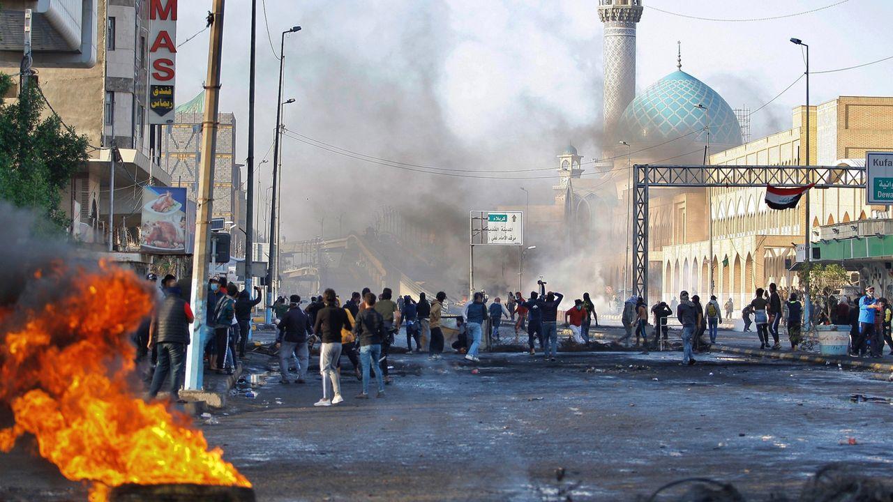 Le sud de l'Irak à feu et à sang, 27 manifestants tués. [Anmar Khalil - Keystone/AP]