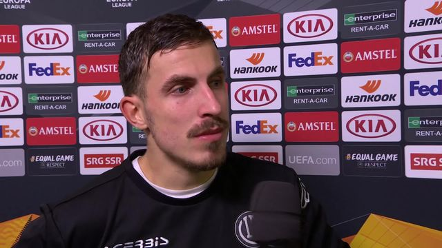 5ème journée, Lugano - Copenhague (0-1): interview d'Olivier Custodio après la rencontre [RTS]